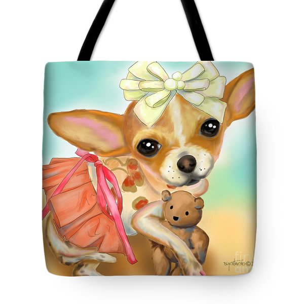 Chihuahua Princess Tote Bag