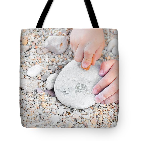 Child Drawing Tote Bag by Tom Gowanlock