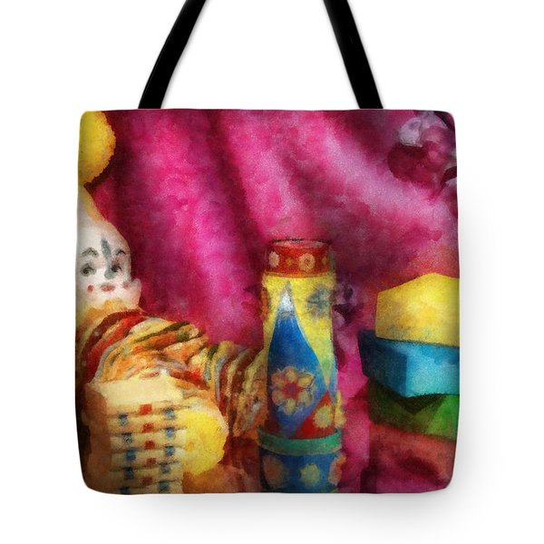 Children - Toy - Earliest Childhood Memories Tote Bag by Mike Savad