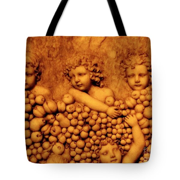 Children Among The Grapes Tote Bag by Annie Zeno