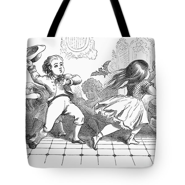 Children And Bat Tote Bag by Granger