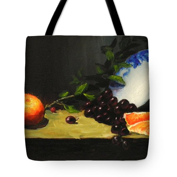 China Bowl And Fruits Tote Bag
