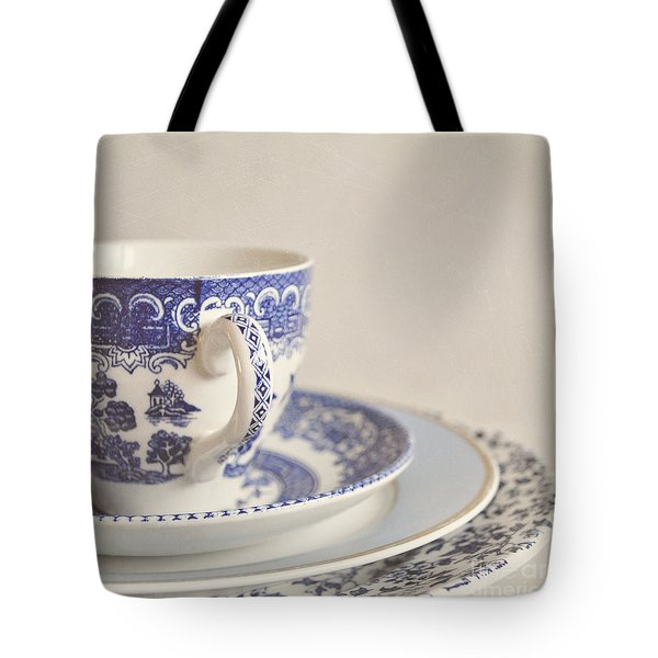China Cup And Plates Tote Bag by Lyn Randle