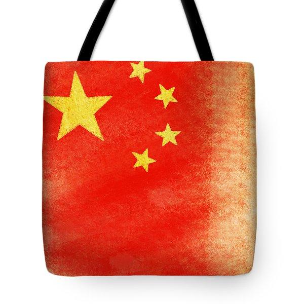 China Flag Tote Bag by Setsiri Silapasuwanchai