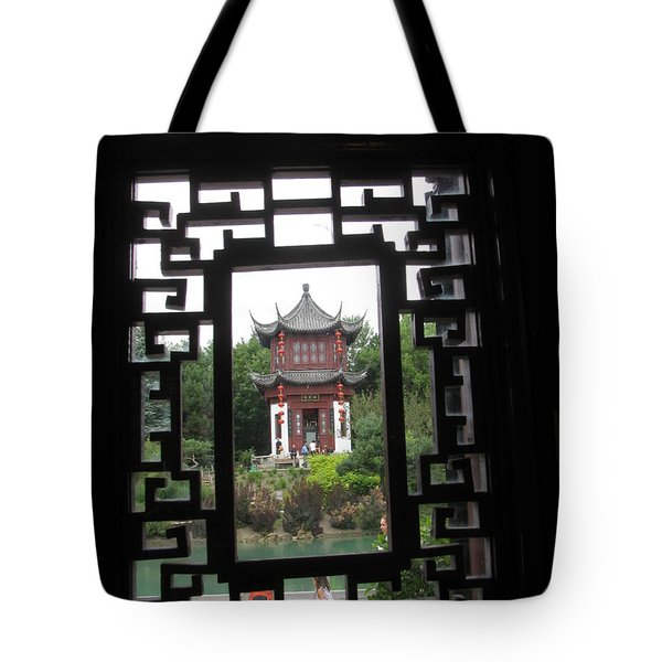 Tote Bag featuring the photograph Chinese Garden by Alfred Ng