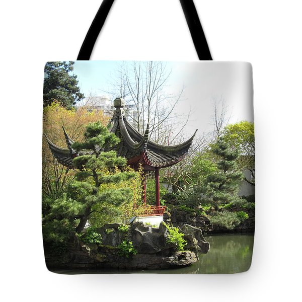 chinese garden in Vancouver Tote Bag