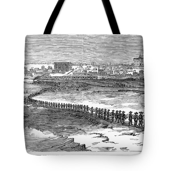 Chinese Laborers, 1870 Tote Bag by Granger