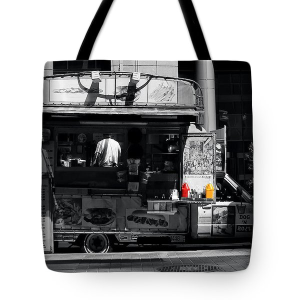 Chip Wagon Tote Bag by Andrew Fare