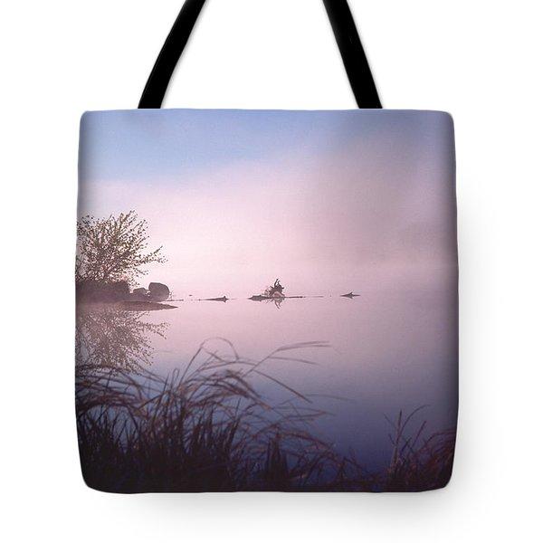 Chippewa River At Dawn Tote Bag