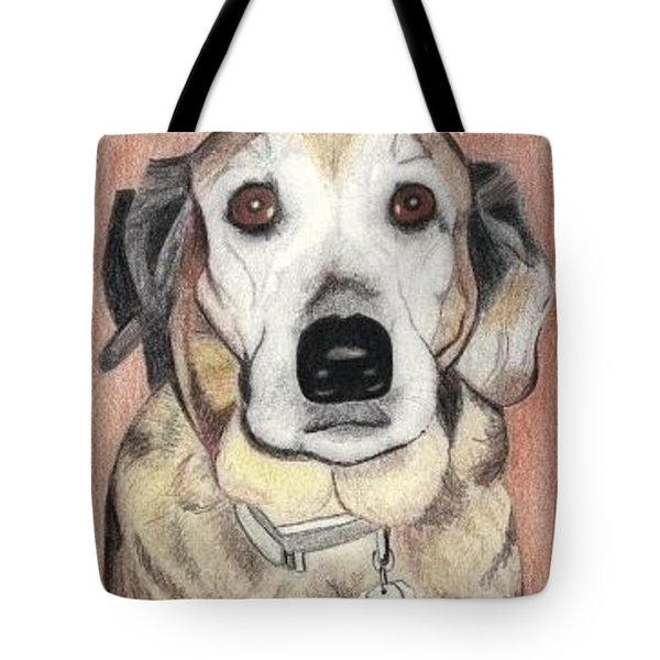 Tote Bag featuring the drawing Chloe by Ana Tirolese