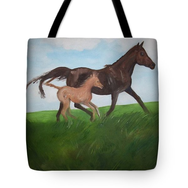 Tote Bag featuring the painting Chloe's Dream by George Pedro