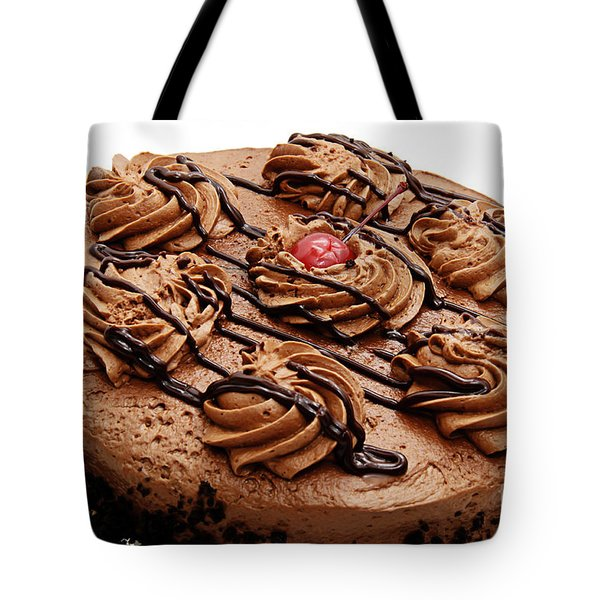Chocolate Cake With A Cherry On Top 2 Tote Bag by Andee Design