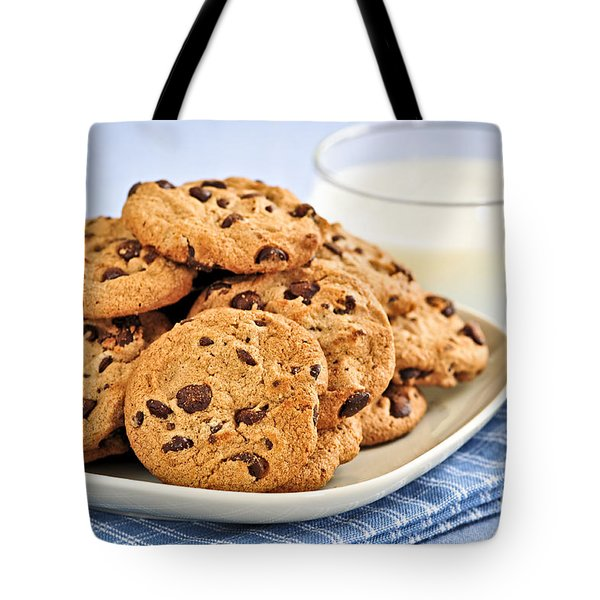 Chocolate Chip Cookies And Milk Tote Bag