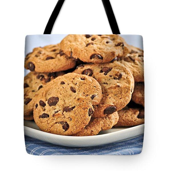 Chocolate Chip Cookies Tote Bag by Elena Elisseeva
