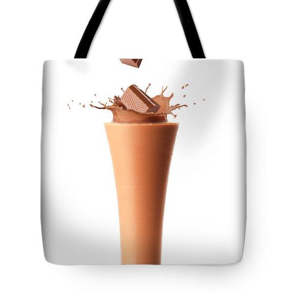 Chocolate Milkshake Smoothie Tote Bag by Amanda Elwell