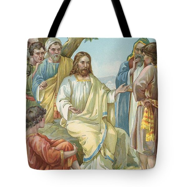 Christ And His Disciples Tote Bag by Ambrose Dudley