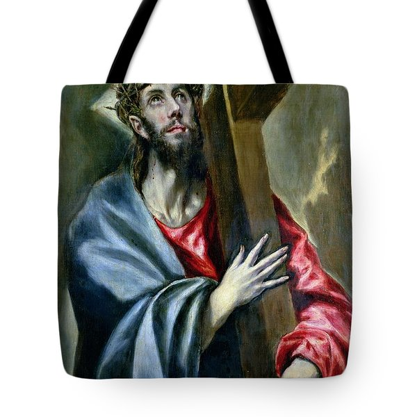 Christ Clasping The Cross Tote Bag by El Greco