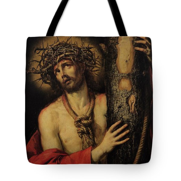 Christ Man Of Sorrows Tote Bag by Antonio Pereda y Salgado
