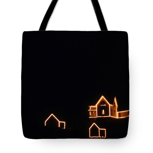 Christmas At The Nubble Tote Bag by Skip Willits