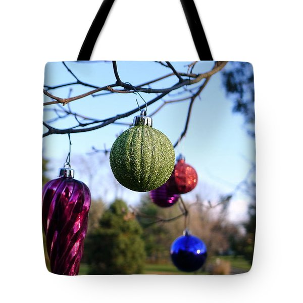 Christmas Baubles Tote Bag by Richard Reeve