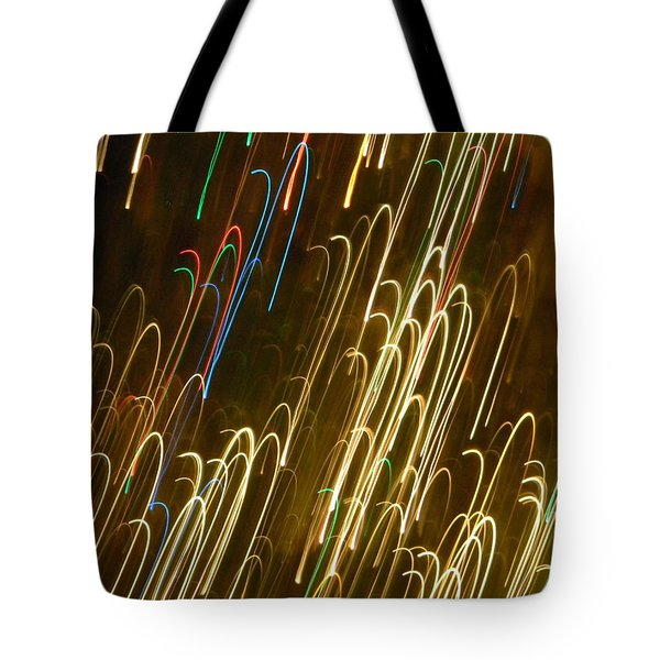 Christmas Card - Candy Canes Tote Bag
