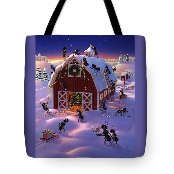 Christmas Decorator Ants Tote Bag