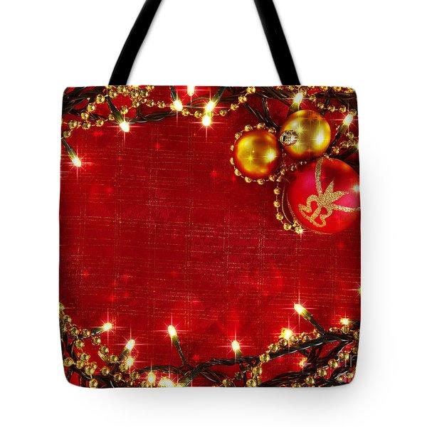 Christmas Frame Tote Bag by Carlos Caetano