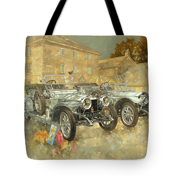 Christmas Ghosts At The Hunt House Tote Bag by Peter Miller