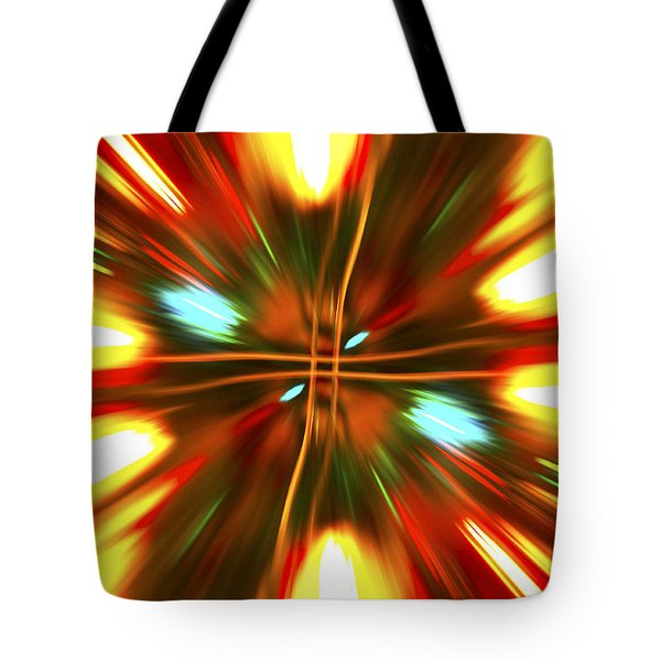Tote Bag featuring the photograph Christmas Light Abstract by Steve Purnell