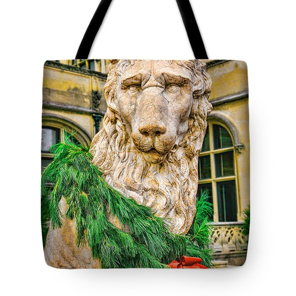 Christmas Lion At Biltmore Tote Bag