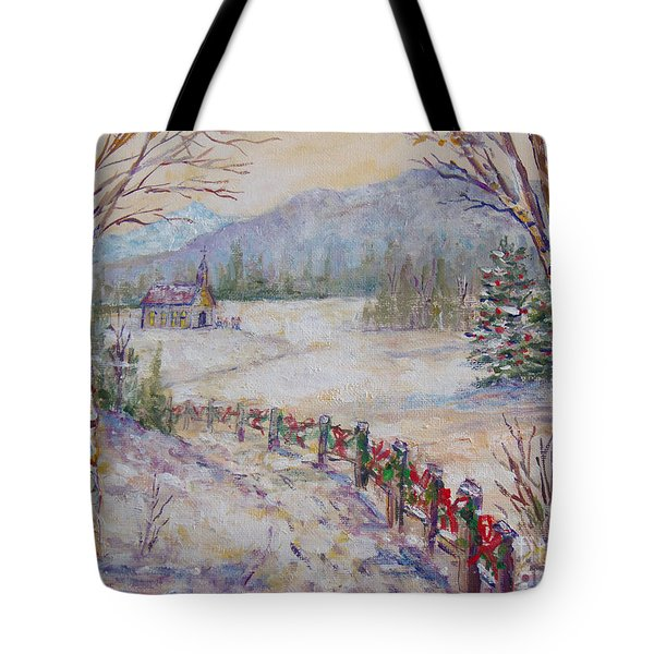 Christmas Tote Bag by Lou Ann Bagnall