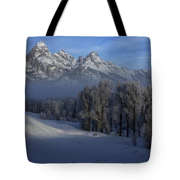 Christmas Morning Grand Teton National Park Tote Bag