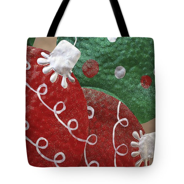 Tote Bag featuring the photograph Christmas Ornaments by Patrice Zinck