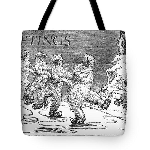 Christmas: Polar Bears Tote Bag by Granger