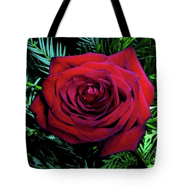 Christmas Rose Tote Bag by Mariola Bitner
