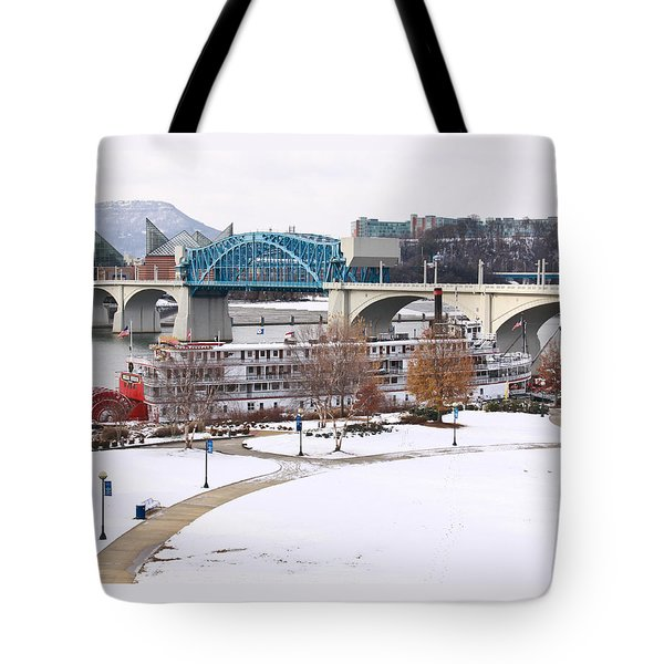 Christmas Snow Tote Bag by Tom and Pat Cory