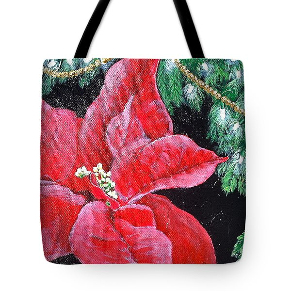 Christmas Time Tote Bag by Melissa Torres