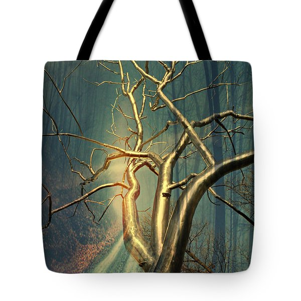 Chrome Forest Tote Bag by Marty Koch
