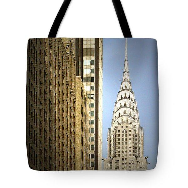 Chrysler Building Nyc - Streamlined Majesty Tote Bag by Christine Till