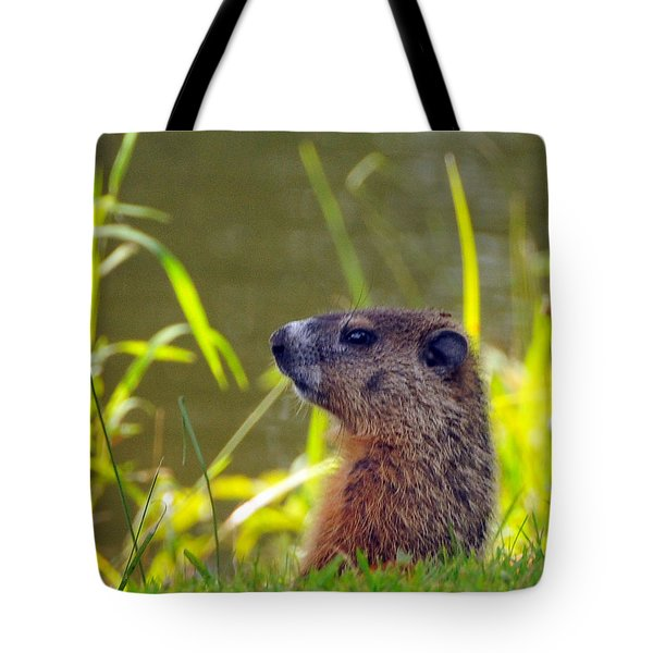 Chucky Woodchuck Tote Bag