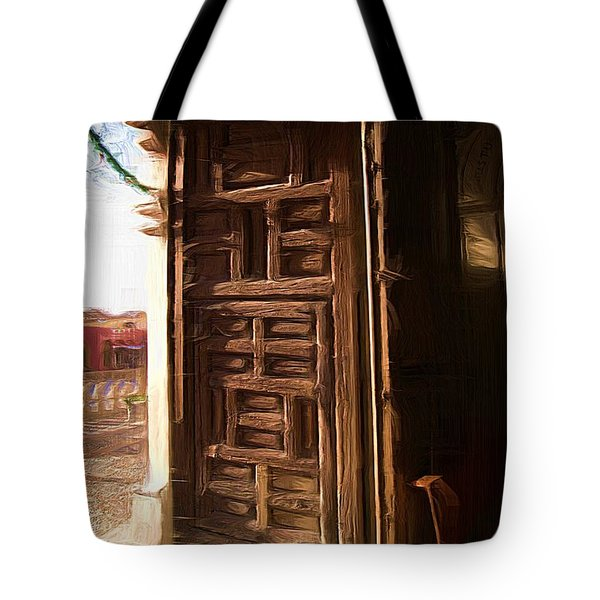 Church Door At Atotonilco Tote Bag