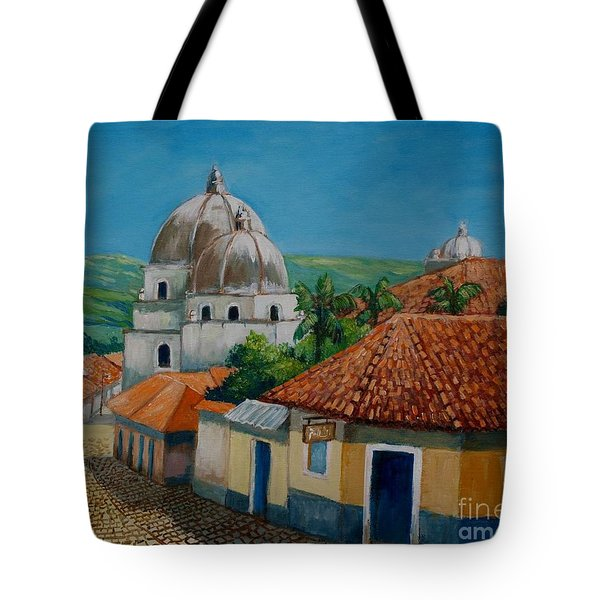 Church Of Pespire In Honduras Tote Bag