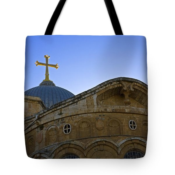 church of the Holy Sepulchre Old city Jerusalem Tote Bag
