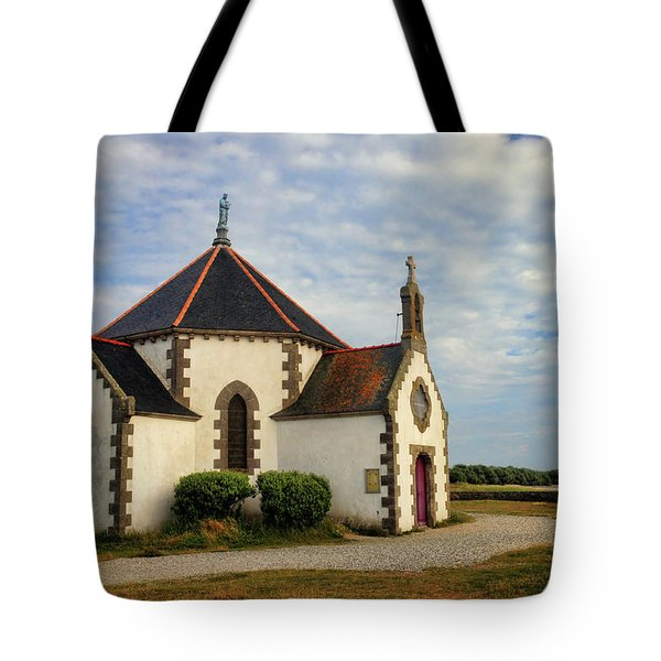 Tote Bag featuring the photograph Church Off The Brittany Coast by Dave Mills