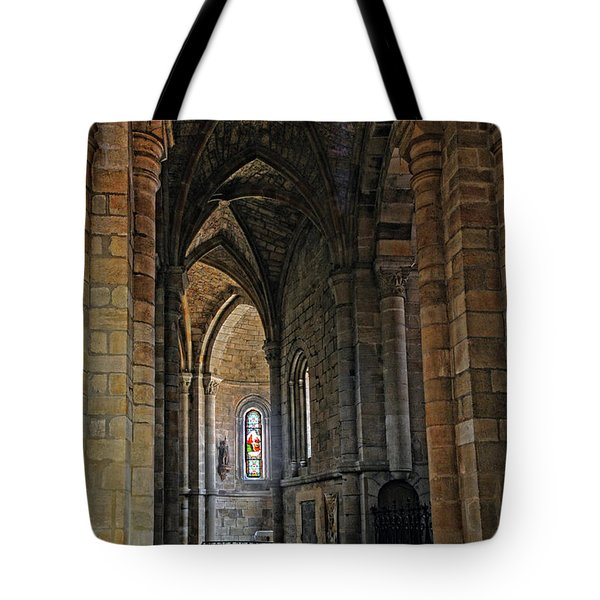 Tote Bag featuring the photograph Church Passageway Provence France by Dave Mills