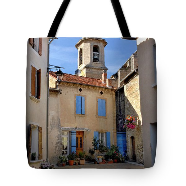 Tote Bag featuring the photograph Church Steeple In Provence by Dave Mills