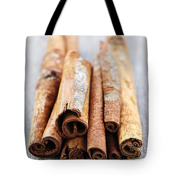 Cinnamon Sticks Tote Bag by Elena Elisseeva