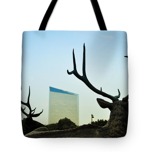 Cira Center From Eakins Oval Tote Bag by Bill Cannon