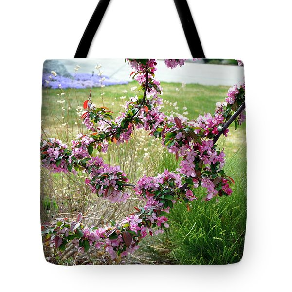 Tote Bag featuring the photograph Circle Of Blossoms by Dorrene BrownButterfield