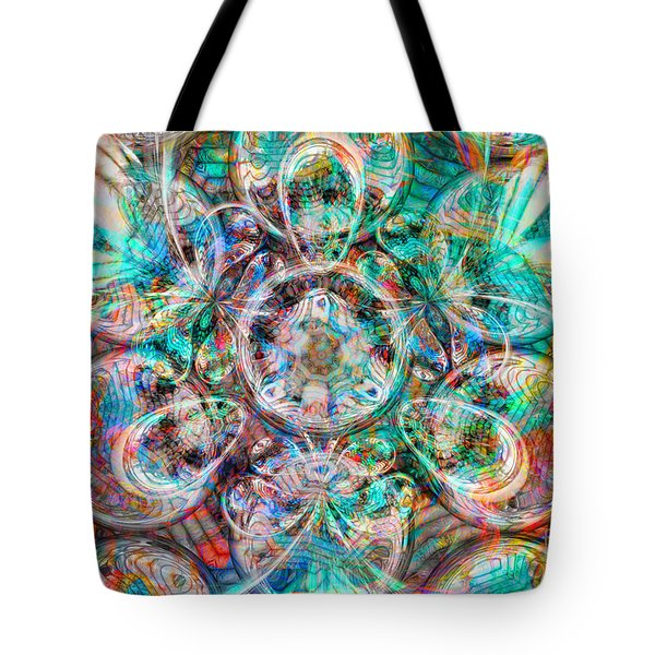 Circles Of Life Tote Bag by Mo T